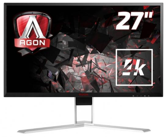 aoc agon ag251fz Монитор 27 AOC AGON AG271UG черный IPS 3840x2160 300 cd/m^2 4 ms HDMI DisplayPort Аудио USB