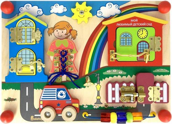 Развивающая доска alatoys Бизиборд - Солнечный день ББ410 бизиборд алатойс автобус