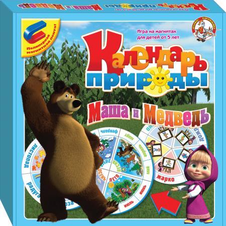 Магнитная доска Десятое Королевство Календарь природы. Маша и Медведь 01435 гаджет грифельная магнитная доска melompo сalendar ml0092