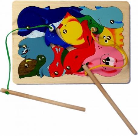 Развивающая игрушка Крона Игра-пазл магнитная Рыбалка, 11 деталей 143-008 фотопанно флизелиновое divino 143 водопад 143 1 008