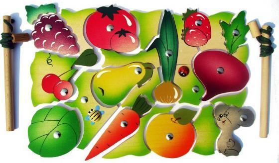 Магнитная игра Крона Во саду ли, в огороде, 26 элементов 143-040 татьяна штаб во саду ли в огороде стихи для детей