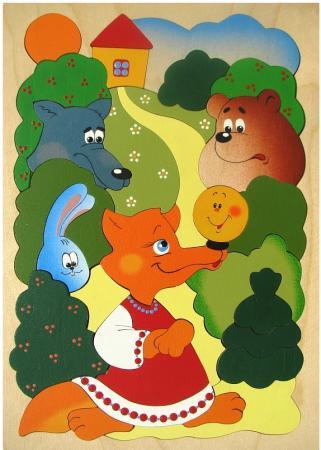 Развивающая игрушка Крона Мозаика-вкладыш дерев. Сказка о Колобке 143-029 развивающая игрушка крона мозаика вкладыш африка 22 элемента 143 016