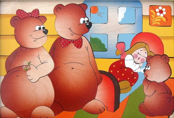 Развивающая игрушка Крона Мозаика-вкладыш дерев. Три медведя  143-032