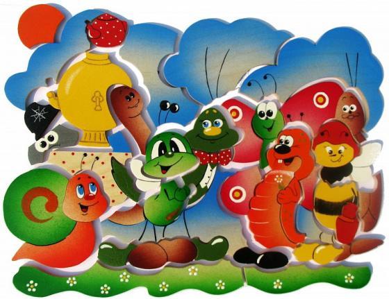 Развивающая игрушка Крона Мозаика-вкладыш дерев. Муха Цокотуха 143-036 мозайка вкладыш крона попугай 29 деталей деревянная 143 017