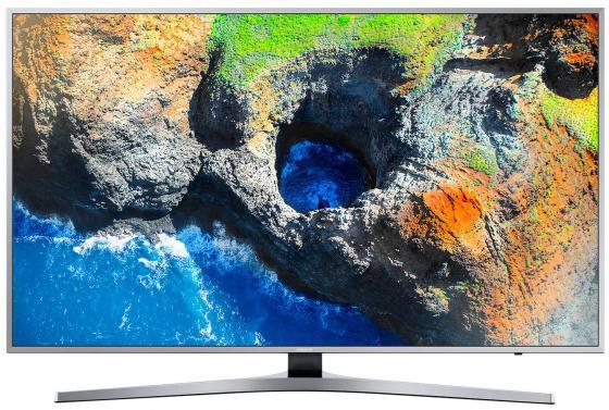 Телевизор LED 55 Samsung UE55MU6400UXRU серебристый 3840x2160 60 Гц Wi-Fi RJ-45 телевизор samsung ue55mu6500u led 55 silver 16 9 3840x2160 usb rj 45 hdmi av dvb t2 c s2