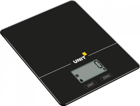 Весы кухонные Unit UBS-2154 чёрный unit ubs 2053 light gray весы напольные электронные