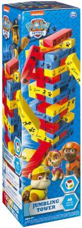 Настольная игра SPIN MASTER Построй башню. Щенячий Патруль 48 предметов