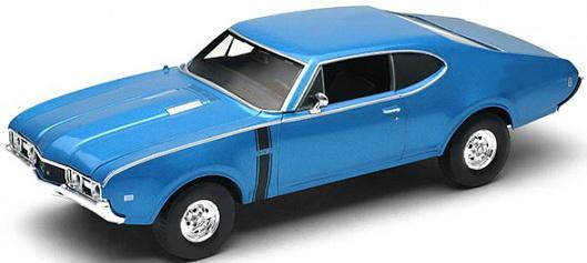 где купить Автомобиль Welly Oldsmobile 442 1968 1:34-39 синий дешево