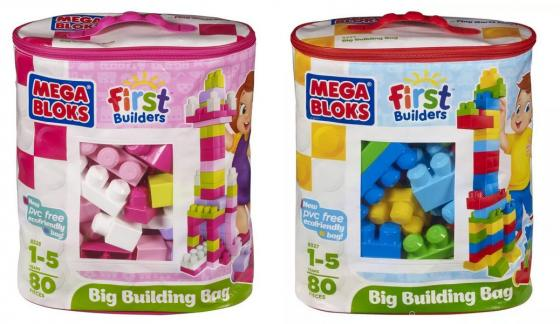 Конструктор MEGA BLOKS First Builders Мешок Мой первый конструктор 80 элементов mega bloks first builders конструктор веселая ферма