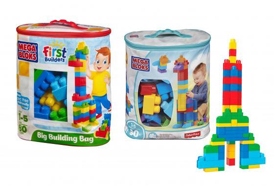 Конструктор MEGA BLOKS First Builders Мешок Мой первый конструктор DCH63 80 элементов guide craft магнитный конструктор better builders career people
