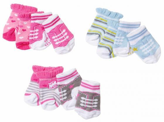 Носочки для кукол Zapf Creation BABY born куклы и одежда для кукол zapf creation baby born детское питание 12 пакетиков
