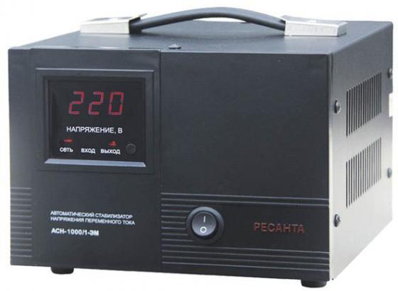 цена на Стабилизатор напряжения Ресанта АСН-1000/1-ЭМ черный