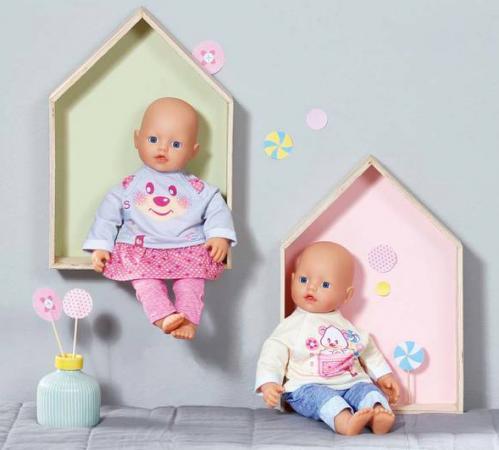 Одежда для кукол Zapf Creation my little BABY born Комплект одежды для дома в ассортимент zapf creation baby born дракон из страны чудес дисплей 822418