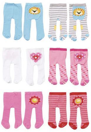 Колготки для кукол Zapf Creation Baby Born Львенок / Сердечко / Цветочек, 2 пары в ассортименте 870-174 памперсы zapf creation для кукол baby born 5 шт 815 816