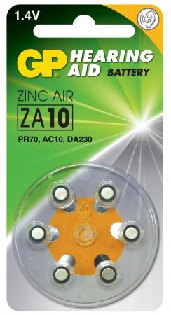 Батарейка GP ZA10-D6 60/300 батарейка za10 6шт gp воздушно цинковая za10fra 9d6
