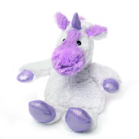 Мягкая игрушка-грелка единорог Warmies Cozy Plush Единорог 24 см белый сиреневый текстиль семена просо грелки warmies cozy plush игрушка грелка лиса