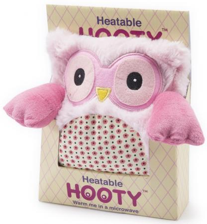 Мягкая игрушка-грелка Warmies Hooty - Совенок розовый текстиль HOO-PIN-1 intelex group игрушка грелка warmies овечка