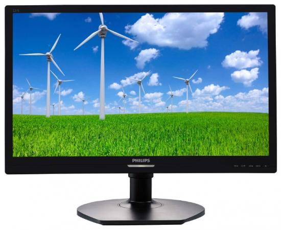 Монитор 22 Philips 221S6LCB/00 черный TN 1920x1080 250 cd/m^2 5 ms VGA DVI монитор 22 viewsonic va2261 8 черный tn 1920x1080 250 cd m^2 5 ms dvi vga