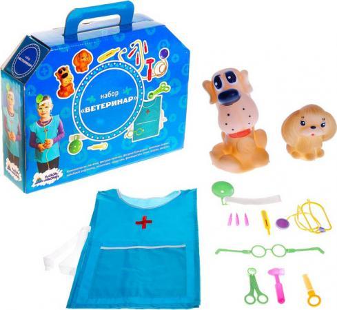Игровой набор Пластмастер Ветеринар 13 предметов 22164 108634 игра развивающая пластмастер набор маленький повар