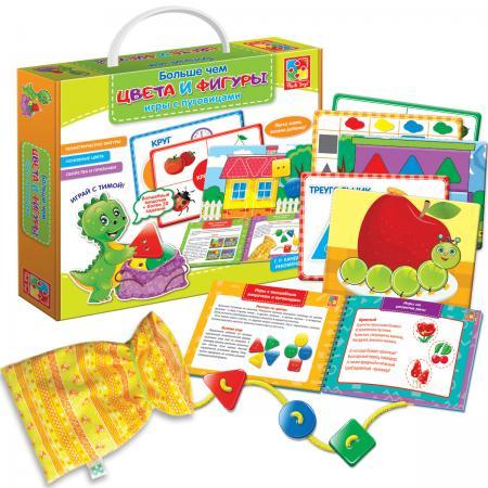 Настольная игра развивающая Vladi toys Больше чем цвета и фигуры VT2801-10 vladi toys настольная игра больше чем азбука vladi toys