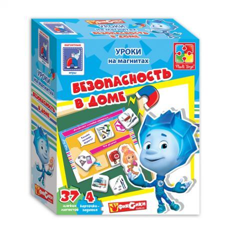 Магнитная игра развивающая Vladi toys Безопасность в доме с Фиксиками VT1502-15 vladi toys магнитная игра безопасность в доме фиксики vladi toys