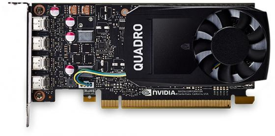 Видеокарта PNY Quadro P1000 VCQP1000-PB PCI-E 4096Mb GDDR5 128 Bit Retail видеокарта pny quadro nvs 300 520mhz pci e 512mb 1580mhz 64 bit