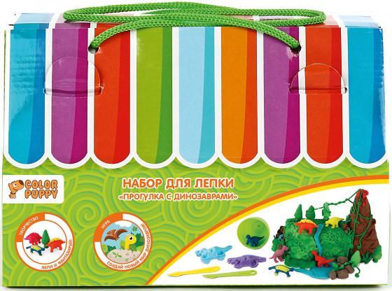 Набор для лепки Color Puppy Прогулка с динозаврами, тесто 240 г, аксессуары 631728 аксессуары для детей