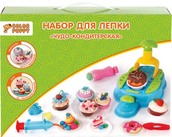 Набор для лепки Color Puppy Чудо-кондитерская, тесто 300 г, аксессуары 631725