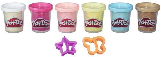 Набор для лепки Hasbro Play-Doh из 6 баночек с конфетти B3423 hasbro play doh a3357 набор из пластилина трех цветов в ассортименте