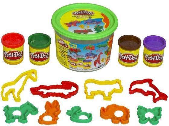 Набор пластилина HASBRO Набор тематический 4 цвета в ассортиментете 23414186 play doh игровой набор магазинчик домашних питомцев
