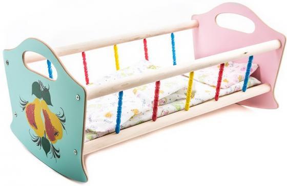 Игровой набор Деревянные игрушки Владимир Кроватка для кукол в ассортименте