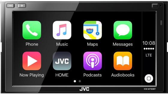 Автомагнитола JVC KW-M730BT 6.8 USB MP3 FM RDS 2DIN 4x50Вт черный автомагнитола pioneer deh s3000bt usb mp3 cd fm rds 1din 4x50вт черный
