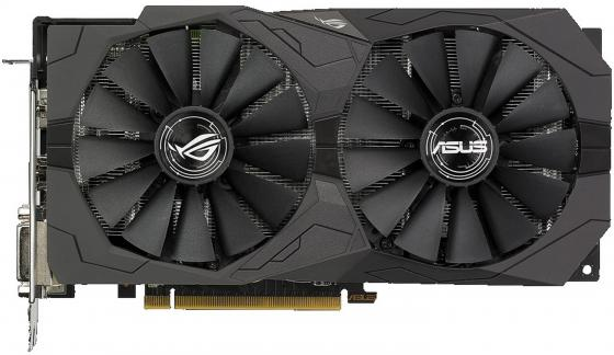 Видеокарта 4096Mb ASUS RX 570 PCI-E DVI HDMI DP HDCP ROG-STRIX-RX570-O4G-GAMING Retail видеокарта пк asus 1gb r7240 1gd3 r7240 1gd3