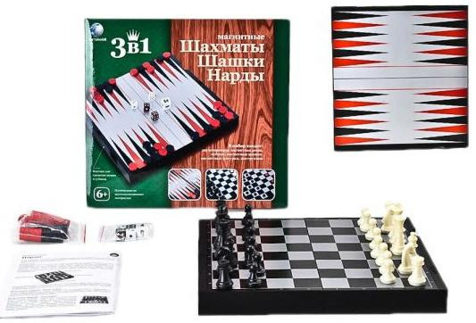 Настольная игра логическая Shantou Gepai Шахматы, шашки, нарды магнитные  2726C