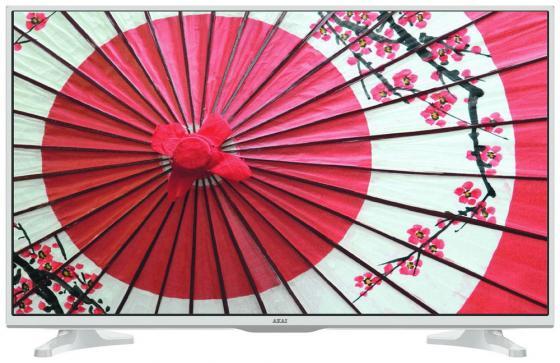 Телевизор 32 Akai LES-32A65W белый 1366x768 50 Гц Wi-Fi Smart TV RJ-45 телевизор led 40 bbk 40lex 5027 t2c черный 1366x768 50 гц wi fi smart tv vga rj 45