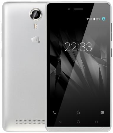 Смартфон Micromax Q354 серебристый 5 8 Гб Wi-Fi GPS 3G смартфон micromax bolt q379 yellow