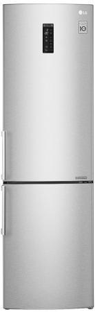 Холодильник LG GA-B499YAQZ серебристый холодильник lg ga b499zvsp серебристый