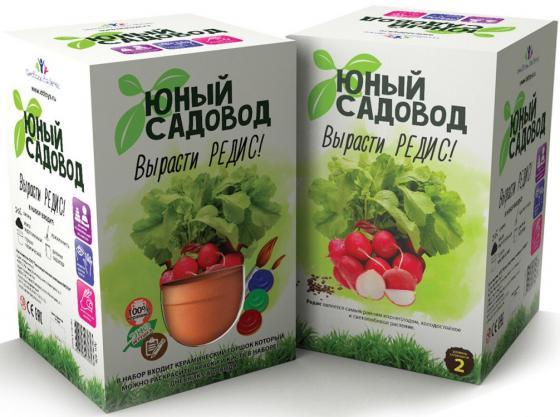 Набор для выращивания Инновации для детей Юный садовод - Вырасти редис 406 наборы для выращивания растений вырасти дерево набор для выращивания ель канадская голубая