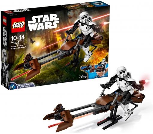 Конструктор Lego Star Wars: Штурмовик-разведчик на спидере™ 452 элемента 75532 конструктор lego lego 31071 конструктор дрон разведчик