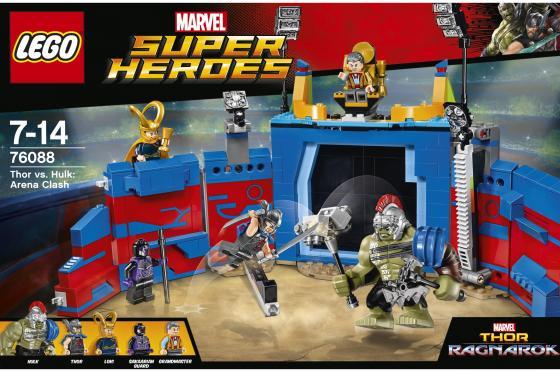 Конструктор LEGO Супергерои - Тор против Халка: Бой на арене 492 элемента 76088