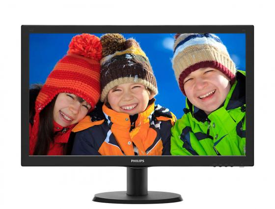 Монитор 23.6 Philips 243V5LSB5(00/01) черный TN 1920x1080 250 cd/m^2 5 ms DVI VGA монитор жк philips bdm3470up 00 01 34 черный