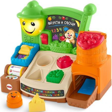 Развивающая игрушка Fisher Price Прилавок с фруктами и овощами FBM32 развивающая игрушка fisher price смейся и учись интерактивный стульчик 12 мес cjh63