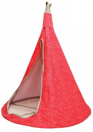 Гамак MOUSE HOUSE Цветы красные  диаметр 140 см  140-10 гамак двухместный туристический voyager
