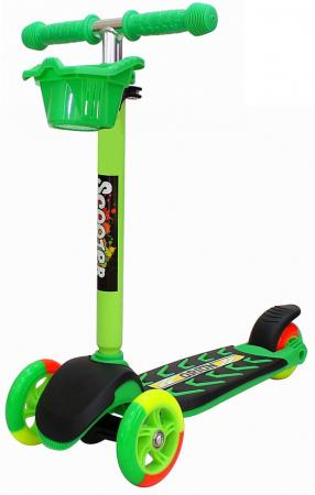 Купить Самокат трехколёсный RT MIDI ORION 164в5 (6627) зеленый, Трехколесные самокаты для детей