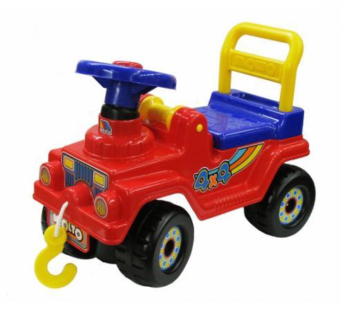 Каталка-машинка Molto Джип 4х4 - №2 пластик от 2 лет на колесах красный
