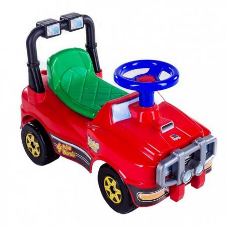 Каталка-машинка Molto Джип 62857 от 1 года на колесах красный каталка машинка molto автомобиль каталка пикап красный от 1 года пластик
