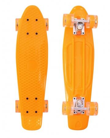 Скейтборд RT Classic 26 68х19 YWHJ-28 пластик со светящимися колесами цвет оранжевый 171207 вспышка для фотокамеры 2xyongnuo yn600ex rt yn e3 rt speedlite canon rt st e3 rt 600ex rt 2xyn600ex rt yn e3 rt