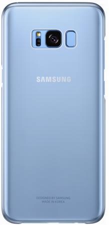 Чехол Samsung EF-QG950CLEGRU для Samsung Galaxy S8 Clear Cover голубой/прозрачный чехол samsung clear cover для samsung galaxy s8 золотой ef qg950cfegru