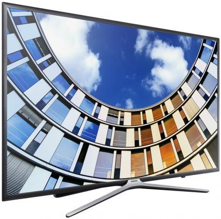 "Телевизор LED 32"" Samsung UE32M5500AU титан 1920x1080 Wi-Fi Smart TV RJ-45 телевизор samsung 40 ue40k5510bu full hd smart tv cmr 400 белый"