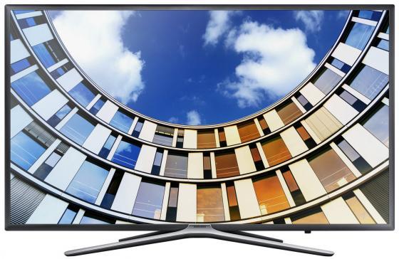 Телевизор LED 43 Samsung UE43M5500AU титан 1920x1080 Wi-Fi Smart TV RJ-45 телевизор samsung ue43m5550 43 дюйма smart tv full hd